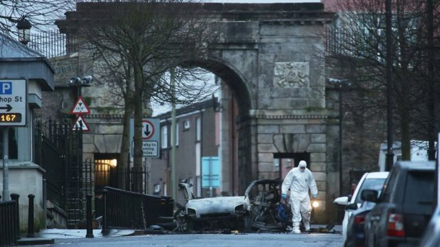 Forensic officer at the scene of the explosion