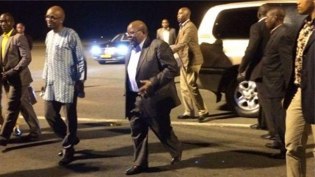 Le médiateur à son arrivée à Bujumbura pour une visite de travail de 3 jours