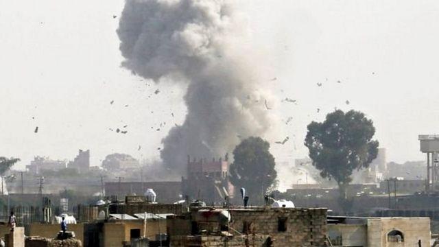 यमन में हवाई हमले