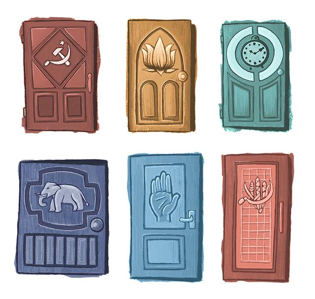 Siyasi partilerin kullandığı sembollerden bazıları