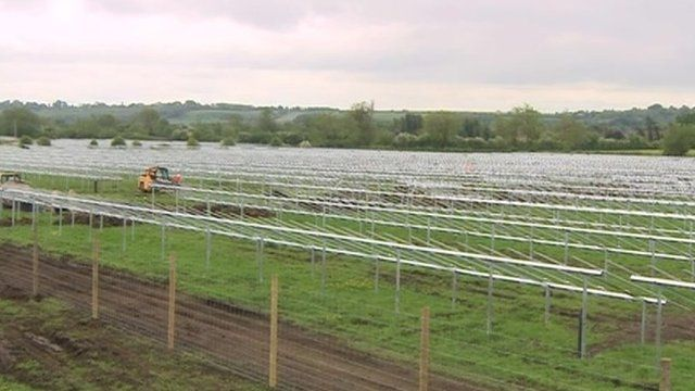 Solar panels being installed at Common Farm