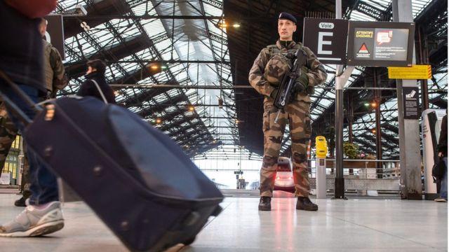 محطة قطارات في ليون الفرنسية