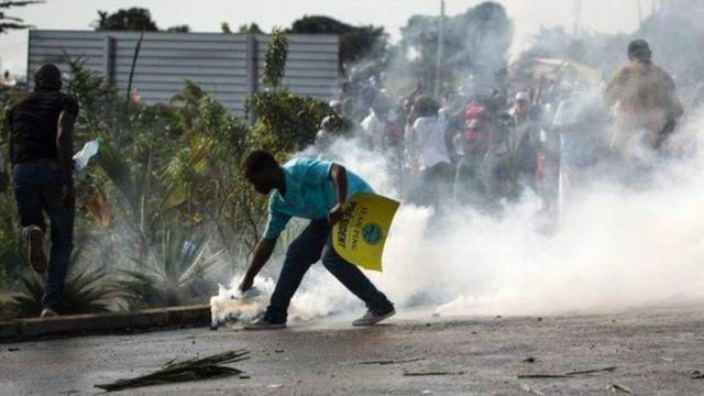 Libreville a enregistré plusieurs manifestations après la publication des résultats de la présidentielle du 27 août 2016