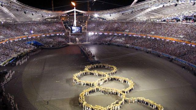 Cerimônia de encerramento dos Jogos de 2004 em Atenas