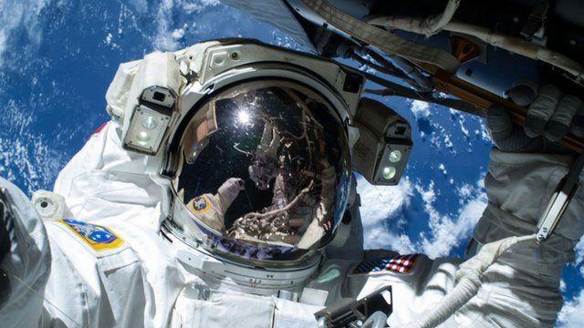 Terry Virts on a spacewalk