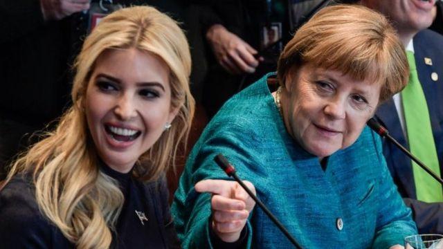 ایوانکا ترامپ همراه پدرش در جلسه هفته گذشته با آنگلا مرکل، صدراعظم آلمان حاضرشد