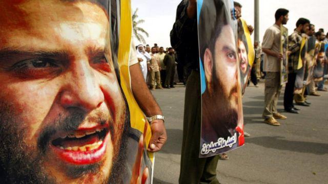 عراق مظاہرے مقتدیٰ الصدر