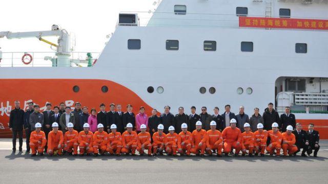 Một tàu thăm dò địa chất của Trung Quốc trên Biển Đông ngày 25/2/2019