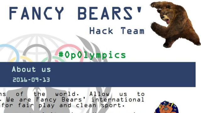Fancy Bears website