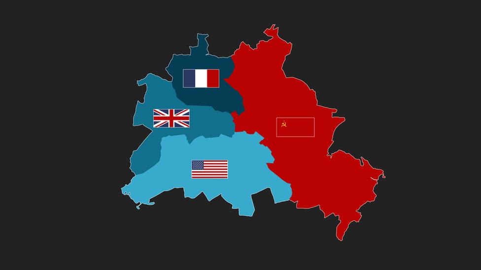 Mapa sectores Berlín.