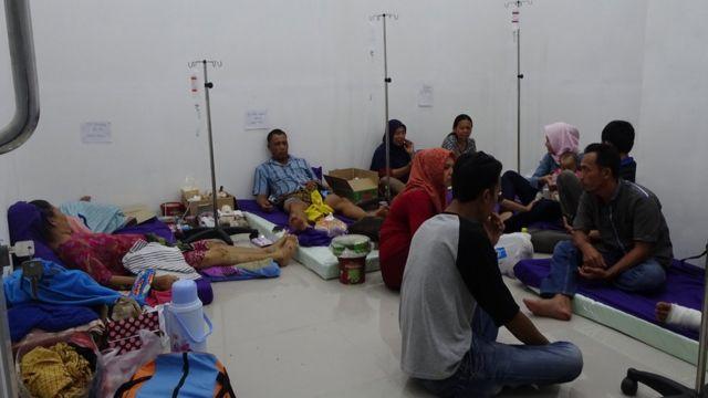 Korban tsunami di Lampung Selatan.