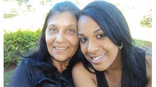 Joana Arcelina De Freitas e a filha, Rayssa