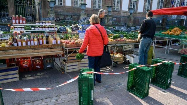 Fransa'da bir pazar yeri