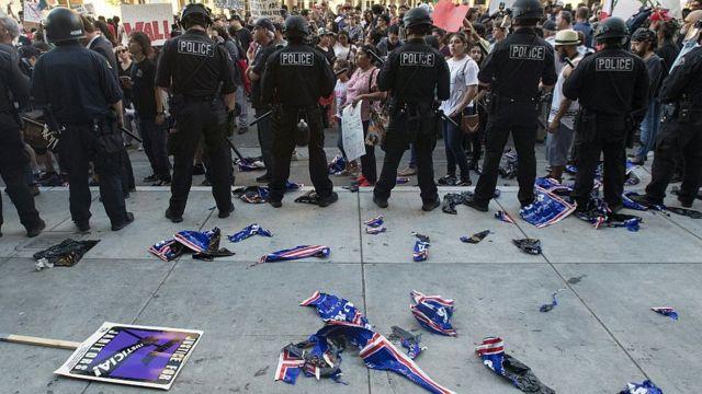 Manifestación en California