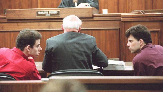 Los hermanos durante su juicio en 1995.
