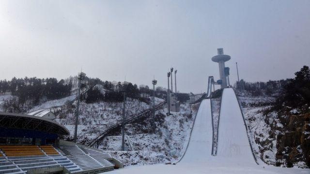 平昌のスキージャンプ会場