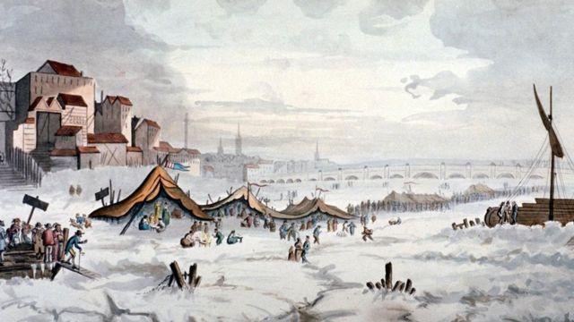 في 1814 احتفلت لندن بآخر كرنفال خاص بتكون الجليد على نهر التيمز
