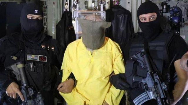 صورة نشرتها قوات الأمن العراقية تظهر سامي جاسم محمد الجبوري، الذي اعتقلته قوات الأمن العراقية، خلال عملية أمنية خاصة.