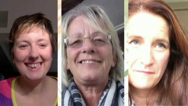 From left - Natalie Collins, Lyn Turner-Hedges, Helen Morgan