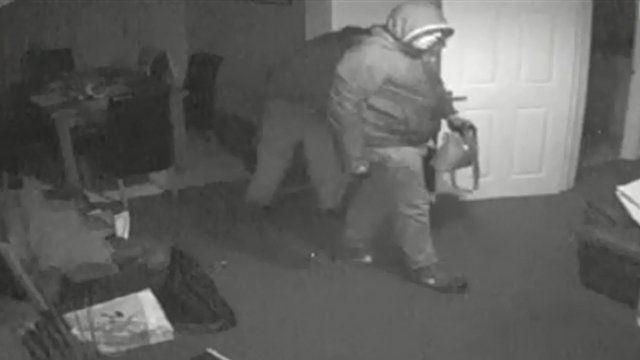 Burglary CCTV footage