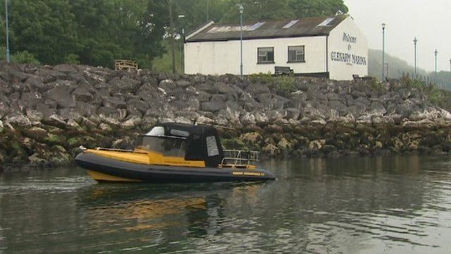 Sonar equipment was launched in the waters between Glenarm and Carnlough