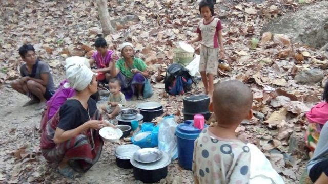 Karen humanitarian group handout