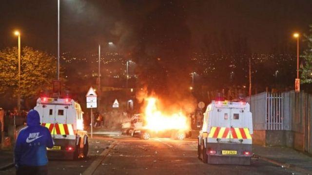 Manifestação em Londonderry