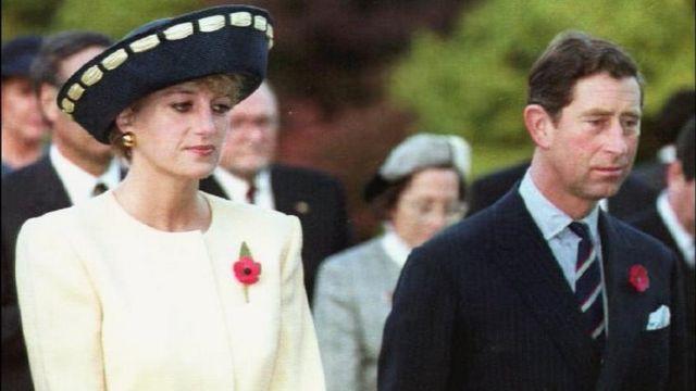 Diana de Gales y Carlos