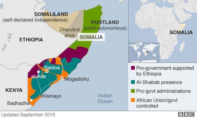 Ikarata ndondagihugu ya Somalia.