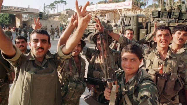 ১৩ই অক্টোবর ১৯৯০- সিরীয় সেনাদের বিজয়োল্লাস