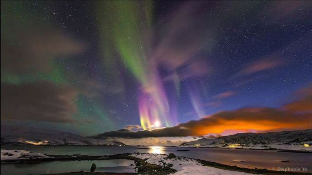La cola de la aurora / Imagen de Stephanie Ye