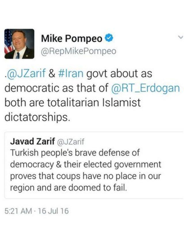 Mıke Pompeo tweet