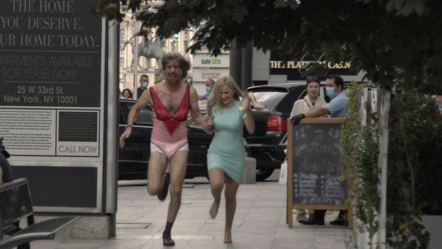 Sacha Baron Cohen and Maria Bakalova in Borat Subsequent Moviefilm
