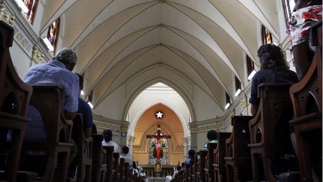 Igreja no Sri Lanka depois de ataques