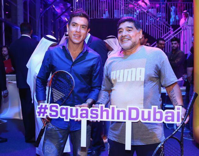Miguel Ángel Rodríguez y Diego Armando Maradona