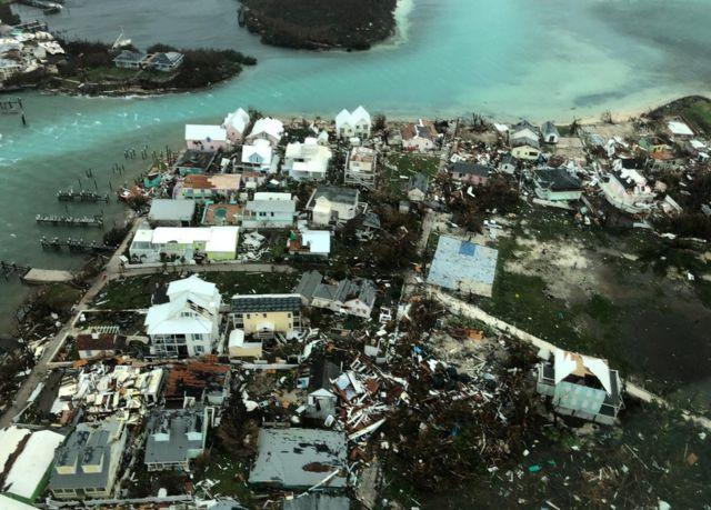 Devastación en las islas Ábaco