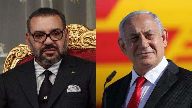 امضای محمد ششم (چپ) پادشاه مراکش و بنیامین نتانیاهو نخست وزیر اسرائیل پای توافق میان دو کشور قرار خواهد گرفت