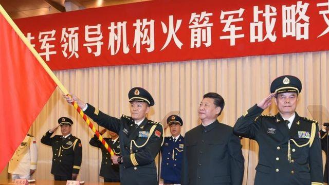 2015年12月,中國解放軍戰略支援部隊成立大會