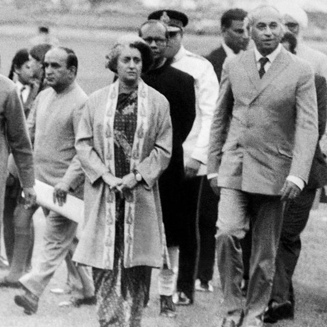 शिमला शांति वार्ता के दौरान इंदिरा और ज़ुल्फ़िकार अली भुट्टो
