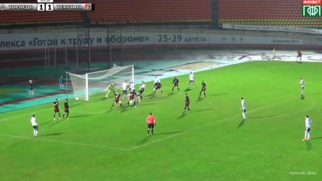 Action from Torpedo Vladimir and Tekstilshchik Ivanovo