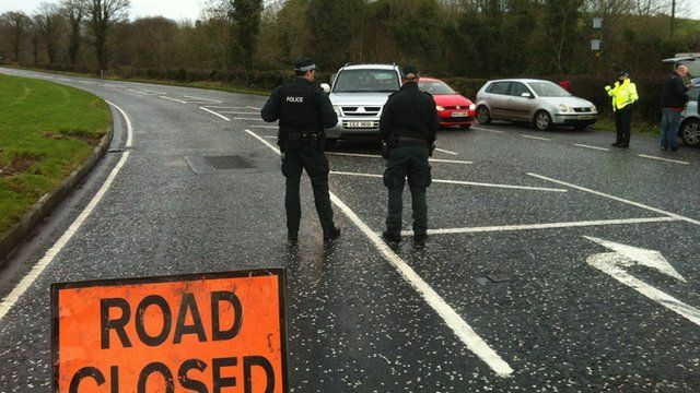 The crash happened on the Hilltown Road - the road has been closed