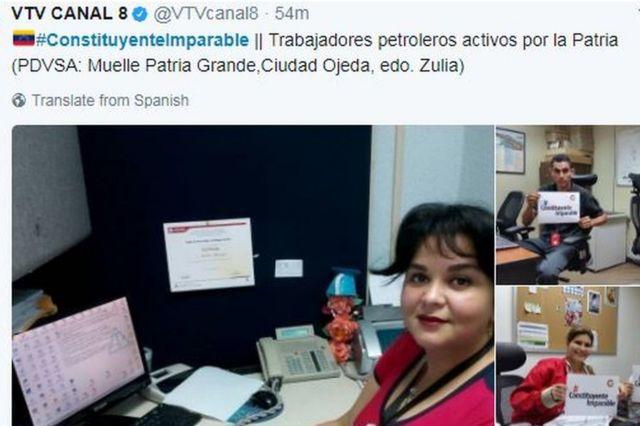 Truyền thông nhà nước đăng hình công nhân ngành dầu ở trong văn phòng