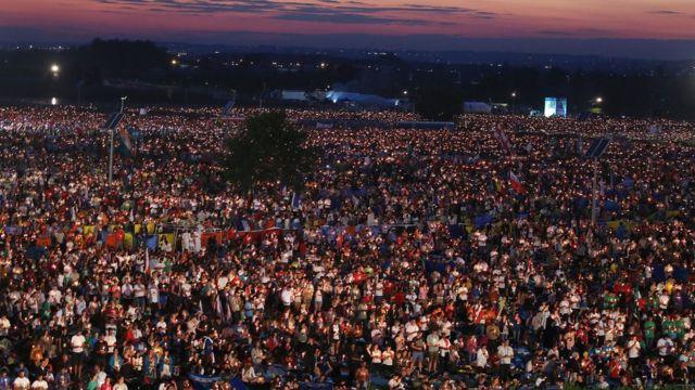 Oración de vigilia en Cracovia