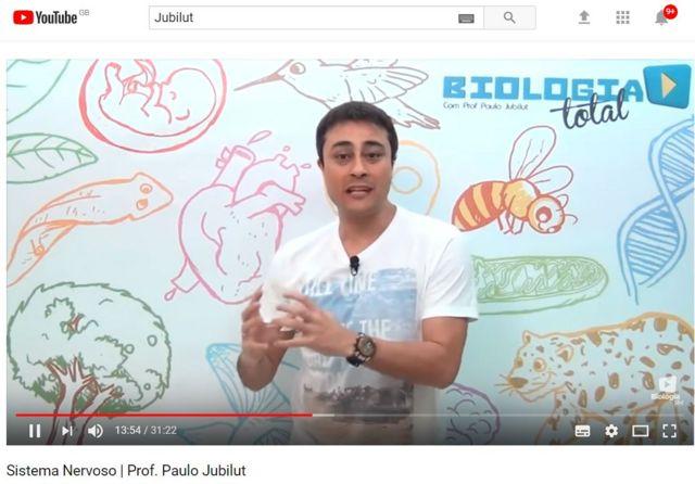 Paulo Jubilut em vídeo no YouTube