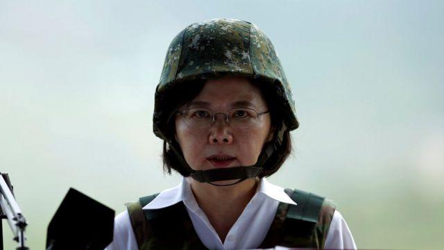 台湾总统蔡英文2016年8月巡视汉光演习。