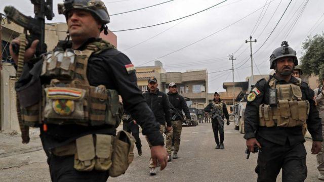 قوات أمنية عراقية في شرقي الموصل