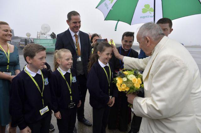 Папа Франциск со школьниками