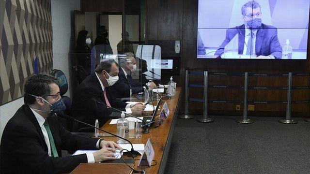 Ernesto Araújo na CPI