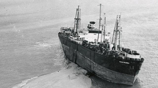 美国蒸汽货船Helena Modjeska号是在古德温暗沙