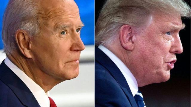 Joe Biden y Donald Trump, en un debate.